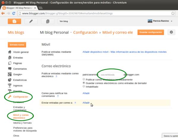 Como enviar posts a Blogger desde tu e-mail